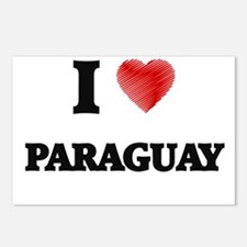 I Love Paraguay Postcards (Package of 8)