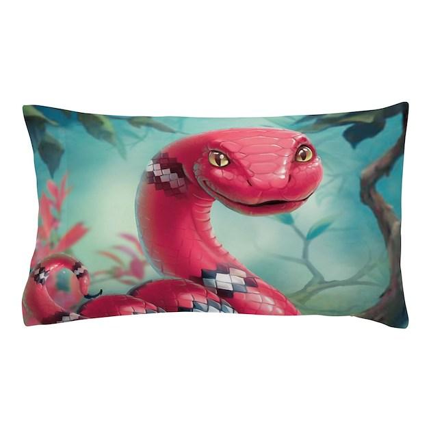 Cute Bolster Pillow Case : Cute Snake Pillow Case by BestGear2