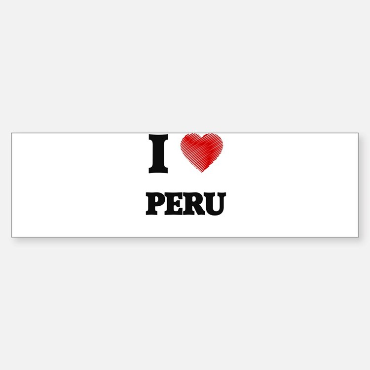 I Love Peru Bumper Bumper Bumper Sticker