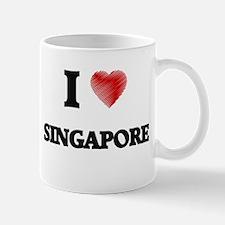 I Love Singapore Mugs