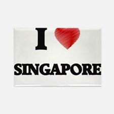 I Love Singapore Magnets