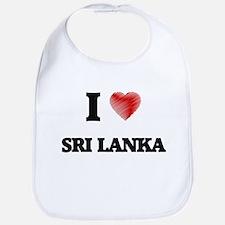 I Love Sri Lanka Bib