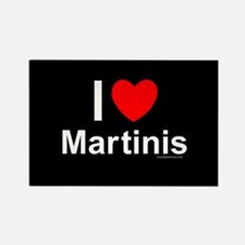 Martinis Rectangle Magnet