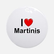 Martinis Round Ornament