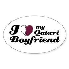 I love my Qatari Boyfriend Oval Decal