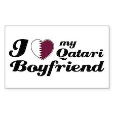 I love my Qatari Boyfriend Rectangle Decal