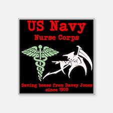 Navy Nurse Corps Black Sticker