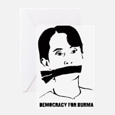 Democracy for Burma Greeting Card