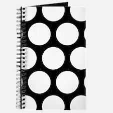 Black: Polka Dots Pattern (Large) Journal