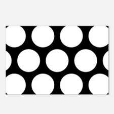 Large Polka Dots: Pure Bl Postcards (Package of 8)