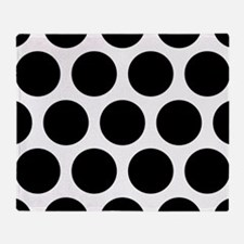 Black: Polka Dots Pattern (Large) Throw Blanket