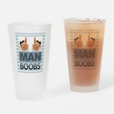 MAN BOOBS Drinking Glass