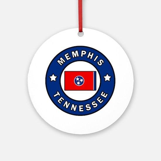 Unique Memphis tennessee Round Ornament