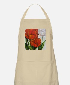 Red and white tulips pillows BBQ Apron