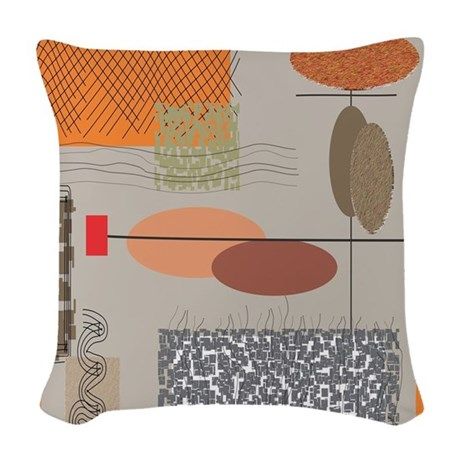 Mid Century Throw Pillow : Mid-Century Modern Woven Throw Pillow by Admin_CP11157433