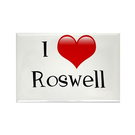 I Love Roswell Rectangle Magnet
