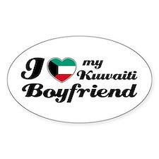 I love my Kuwaiti Boyfriend Oval Decal