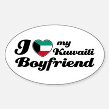 I love my Kuwaiti Boyfriend Oval Decal