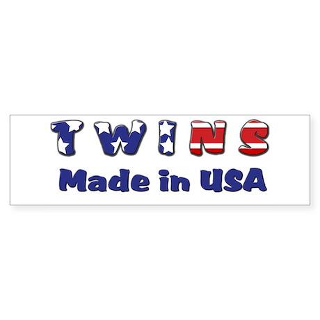 Twins Made in USA Bumper Sticker
