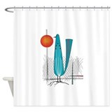 Mid century modern Shower Curtains