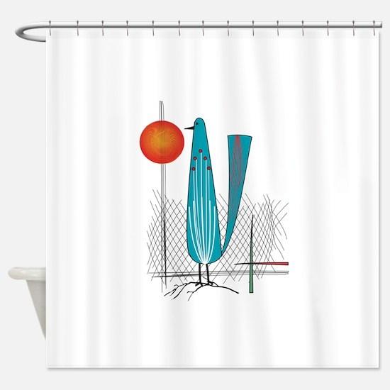 Mid-Century Modern Shower Curtain