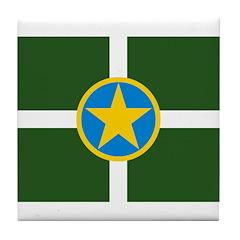 Jackson Flag Tile Coaster