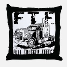 FTE - Black Throw Pillow