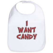I Want Candy Bib