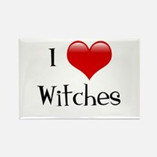 I Love Witches Rectangle Magnet
