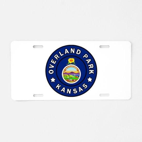 Overland Park Kansas Aluminum License Plate