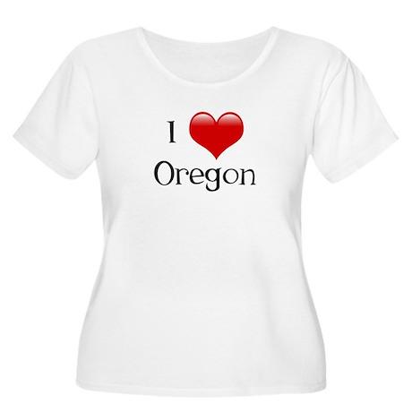 I Love Oregon Women's Plus Size Scoop Neck T-Shirt