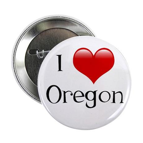 """I Love Oregon 2.25"""" Button"""