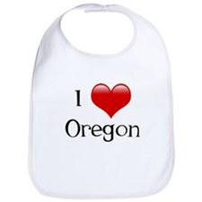 I Love Oregon Bib