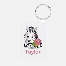Taylor's Zebra Rose Keychains