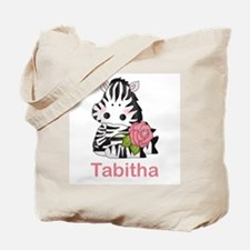 Tabitha's Zebra Rose Tote Bag