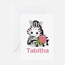 Tabitha's Zebra Rose Greeting Cards (Pk of 20)