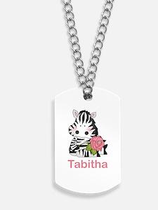 Tabitha's Zebra Rose Dog Tags