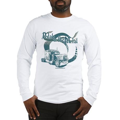 PTTM-Trucker-Blue Long Sleeve T-Shirt