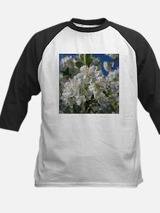 white cherry blossom in spring aga Baseball Jersey