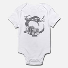 PTTM-Trucker-Grey Infant Bodysuit