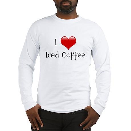I Love Iced Coffee Long Sleeve T-Shirt