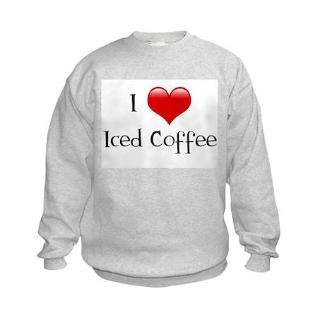 I Love Iced Coffee Kids Sweatshirt