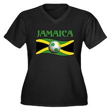 TEAM JAMAICA WORLD CUP Women's Plus Size V-Neck Da