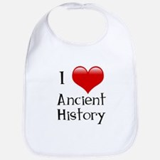I Love Ancient History Bib