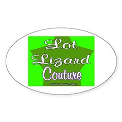 Lot Lizard Couture Oval Decal