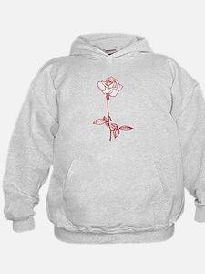 Long Stem Rose Hoodie