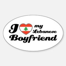 I love my Lebanese Boyfriend Oval Decal