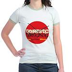 Domestic Violence w/Yellow UR Jr. Ringer T-Shirt