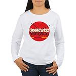 Domestic Violence w/Yellow UR Women's Long Sleeve