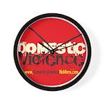 Domestic Violence w/Yellow UR Wall Clock